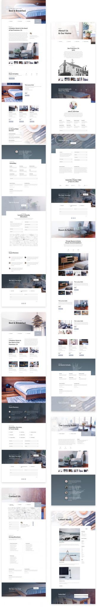 Bed and Breakfast Layout Pack