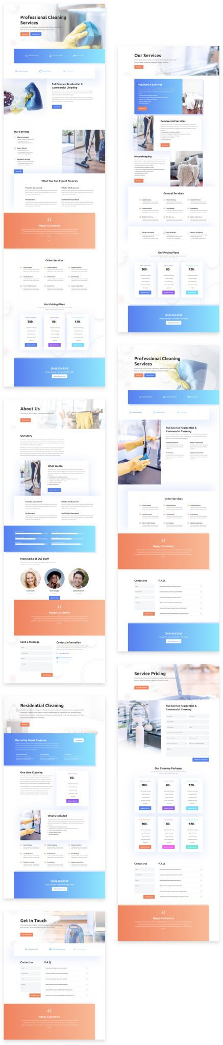 Cleaning Company Layout Pack