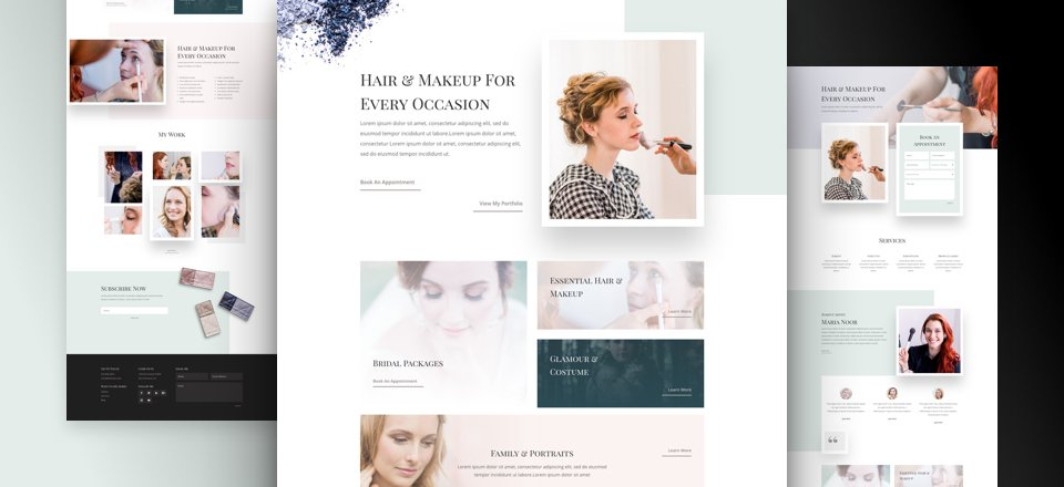 Makeup Artist Layout Pack