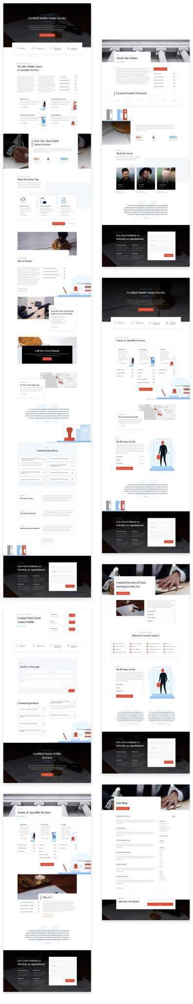 Notary Public Layout Pack
