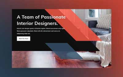 Sleek Header Design with Parallelograms