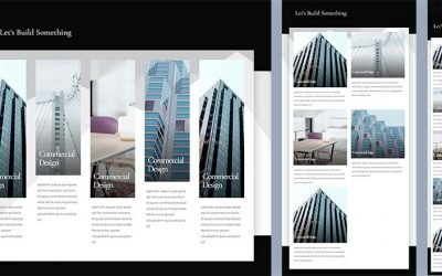 Responsive Five Column Showcase Layout