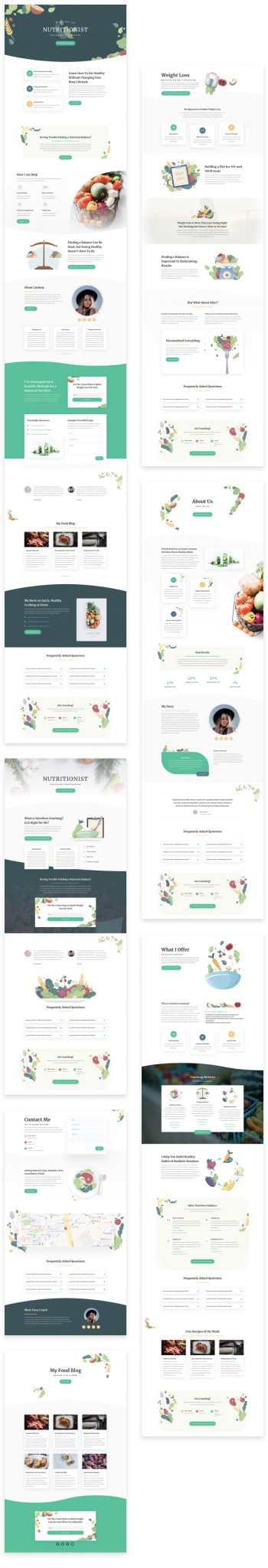 Nutritionist Layout Pack