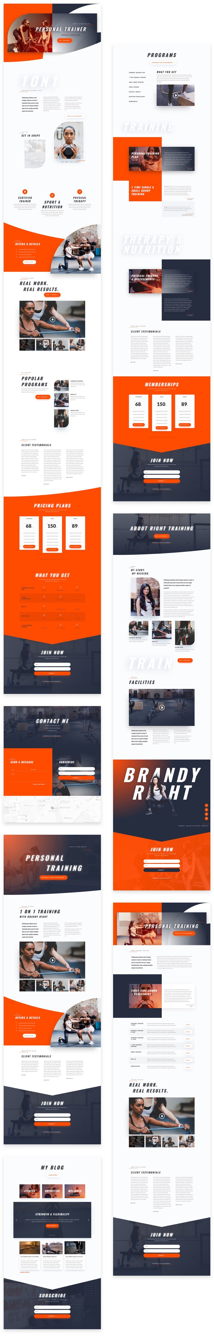 Personal Trainer Layout Pack