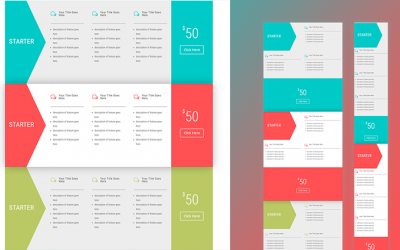 Horizontal Pricing Tables with Divi