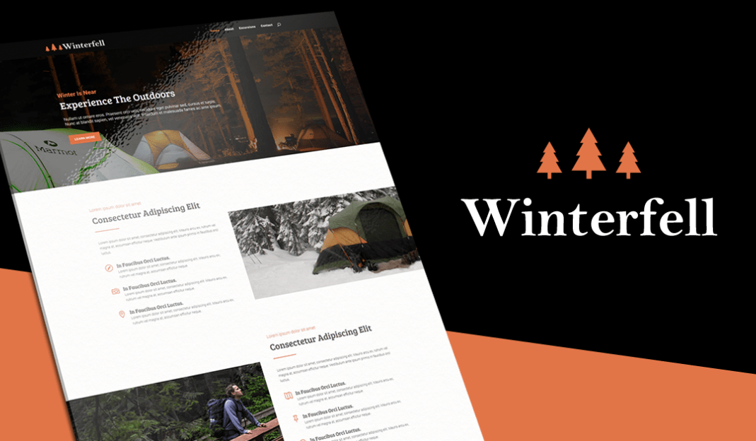 Winterfell For Outdoor Enthusiasts Divi Layout Pack