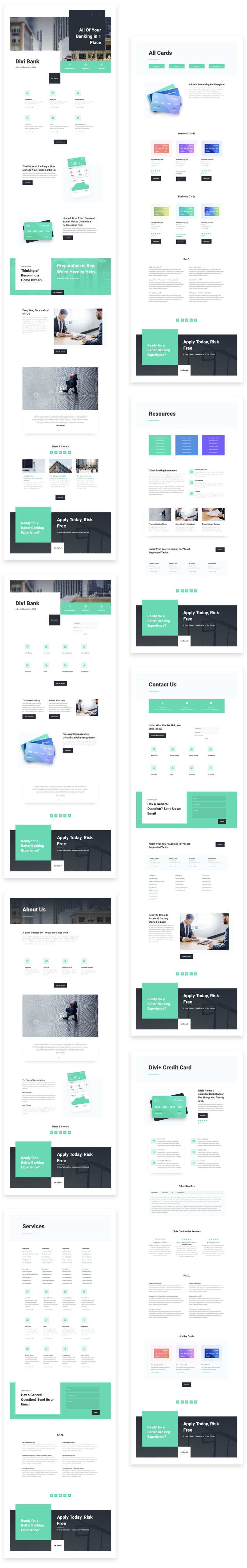 Divi Bank Layout Pack