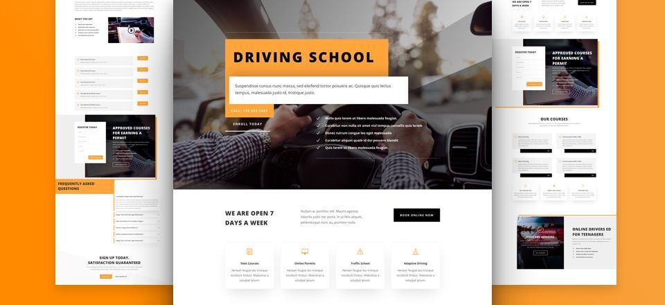Divi Driving School Layout Pack