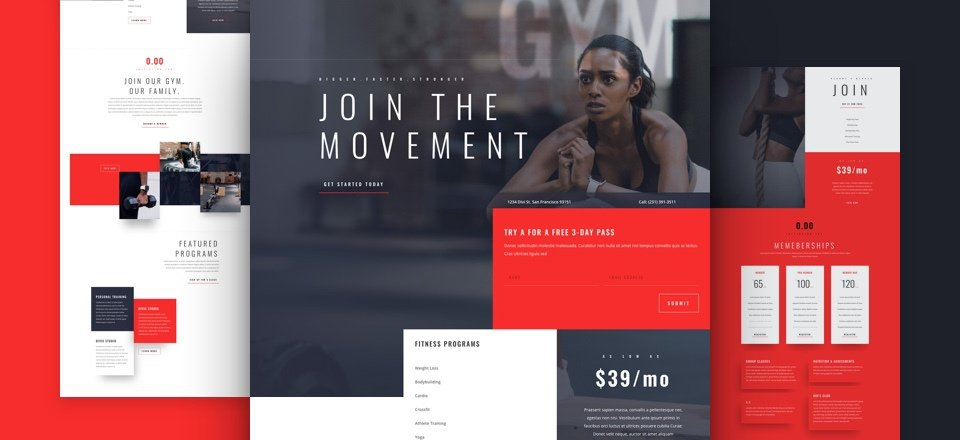 Fitness Gym Layout Pack