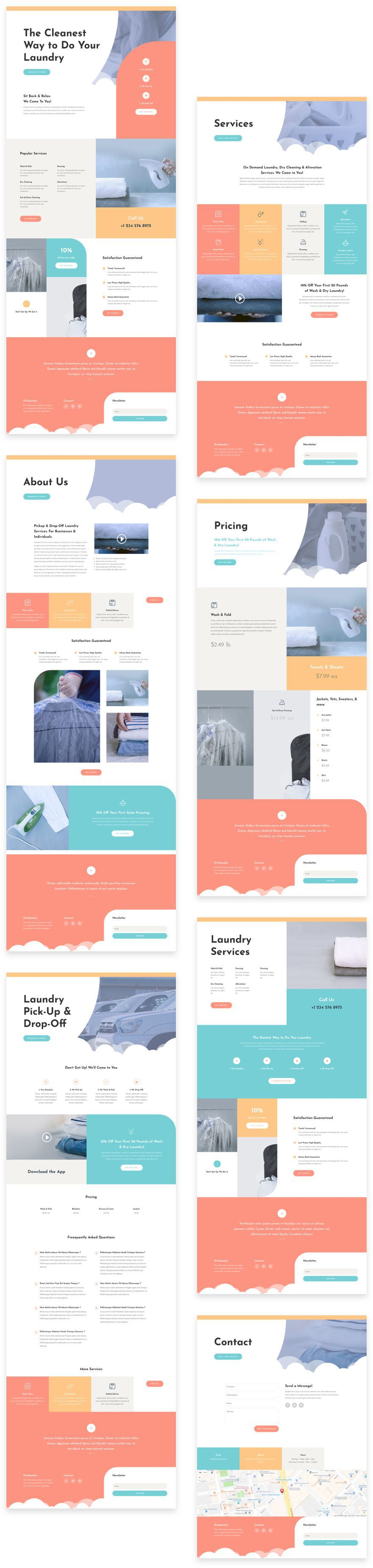 Divi Laundry Service Layout Pack