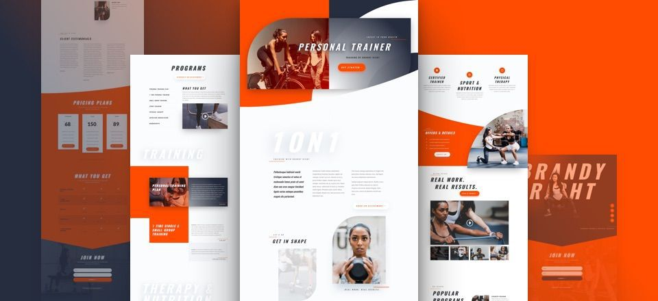 Divi Personal Trainer Layout Pack