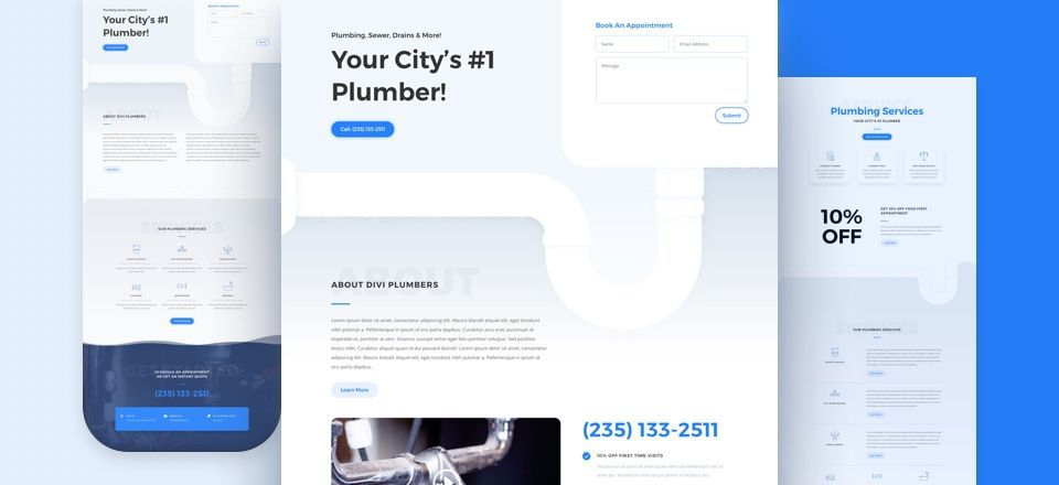 Divi Plumber Layout Pack