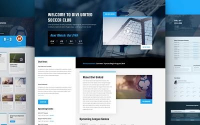 Soccer Club Layout Pack