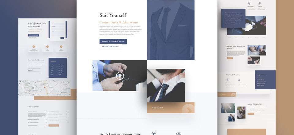 Suit Tailor Layout Pack