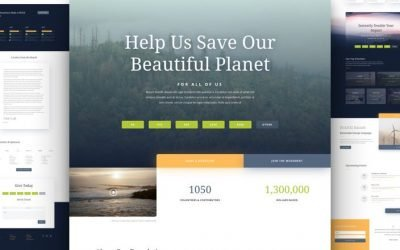 Environmental Nonprofit Layout Pack
