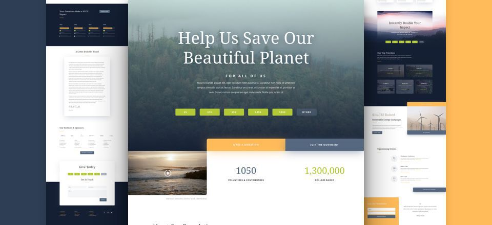 Environmental Non-Profit Divi Layout Pack