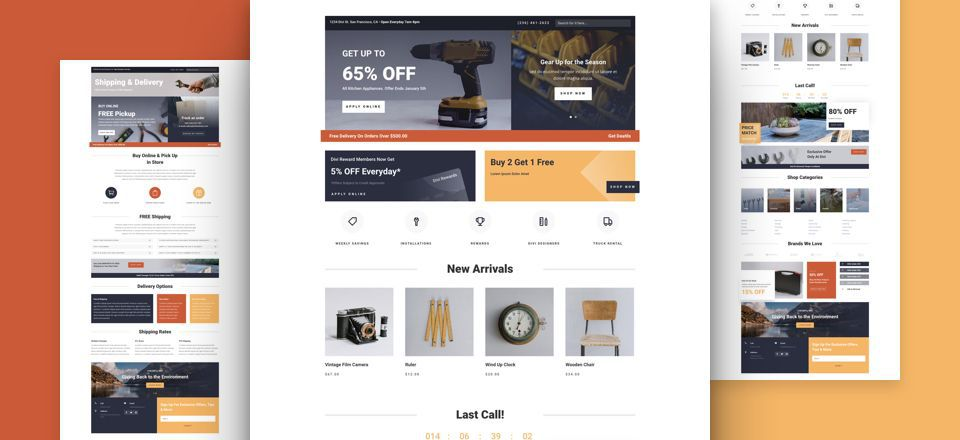 Hardware Store Divi Layout Pack