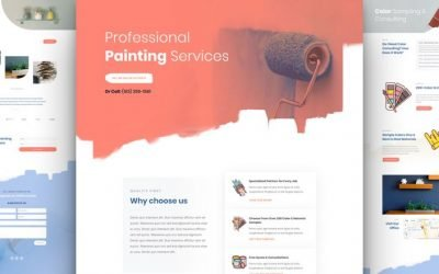 Painting Service Layout Pack