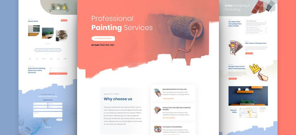 Painting Services Divi Layout Pack