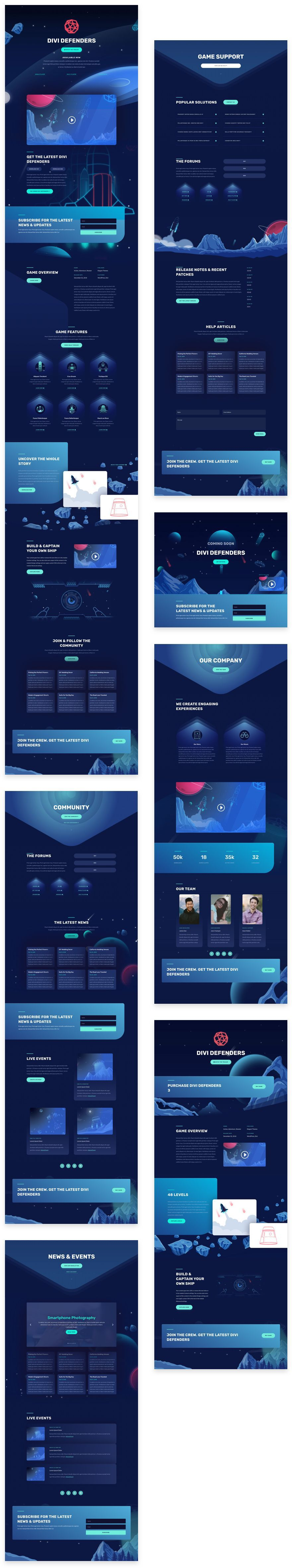 Video Game Divi Layout Pack
