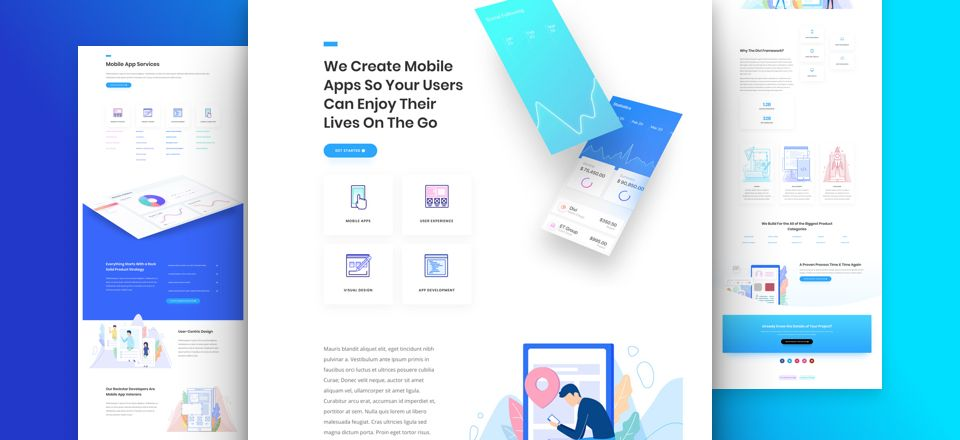 App Developer Divi Layout Pack