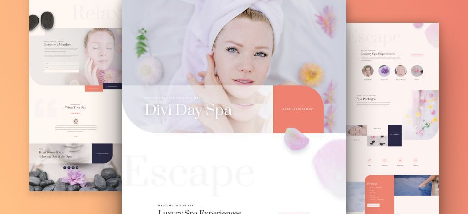 Day Spa Divi Layout Pack