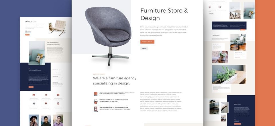 Furniture Store Divi Layout Pack