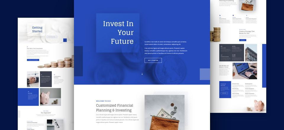 Investment Company Divi Layout Pack