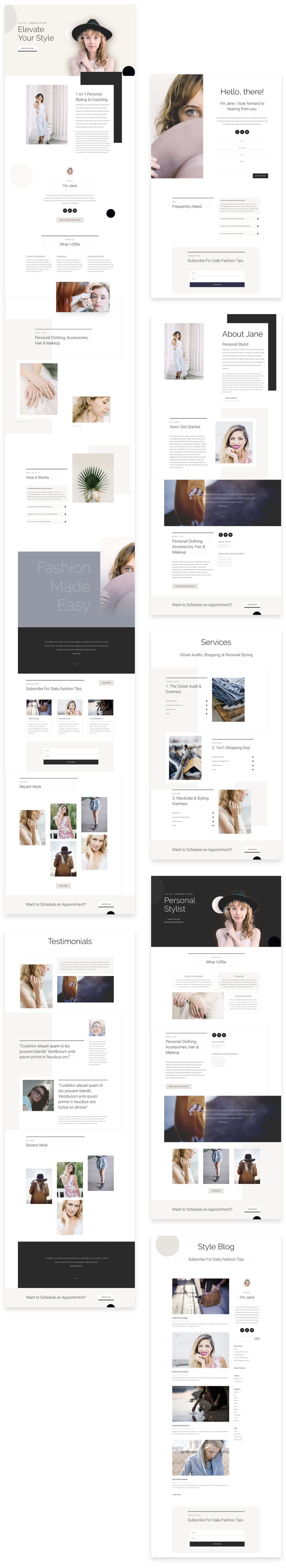 Personal Stylist Divi Layout Pack