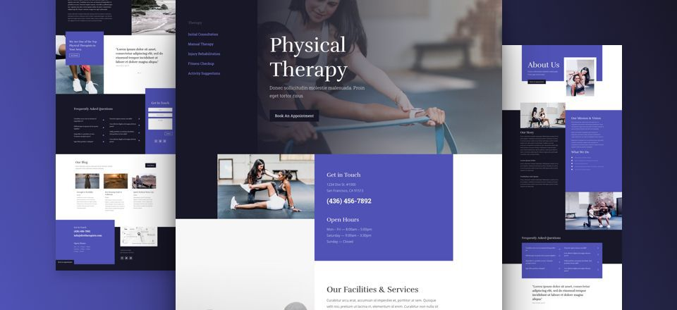 Physical Therapy Divi Layout Pack