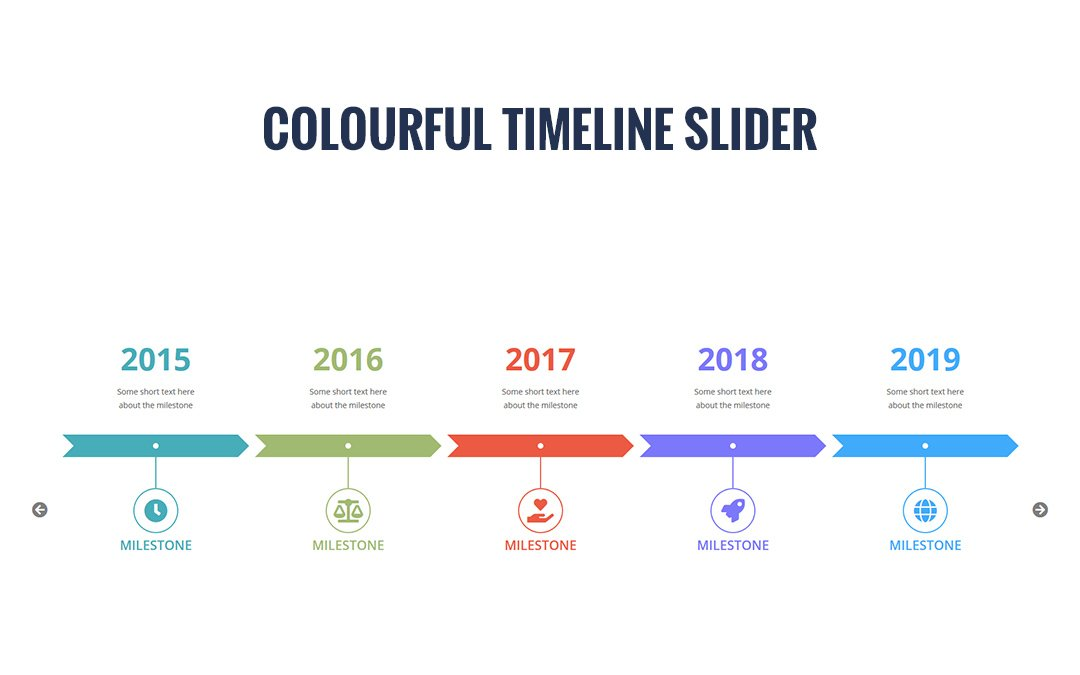 Colourful Timeline Slider