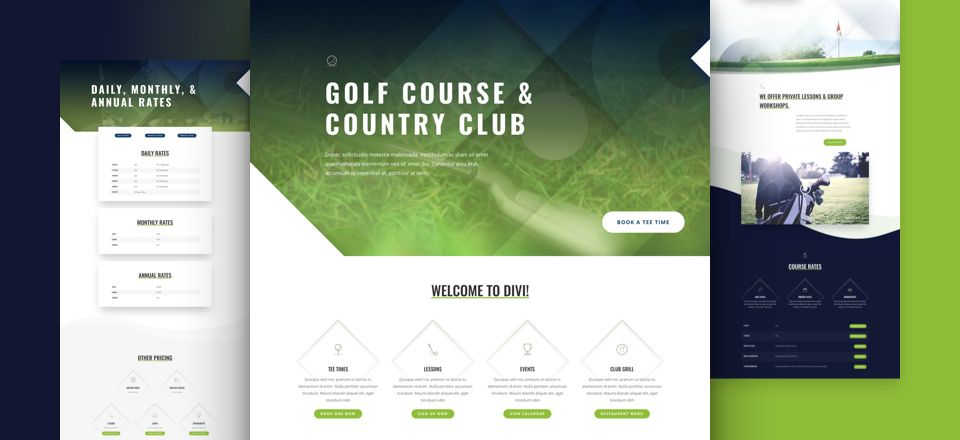 Golf Course Divi Layout Pack