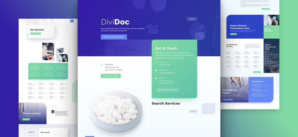 Health Clinic Divi Layout pack