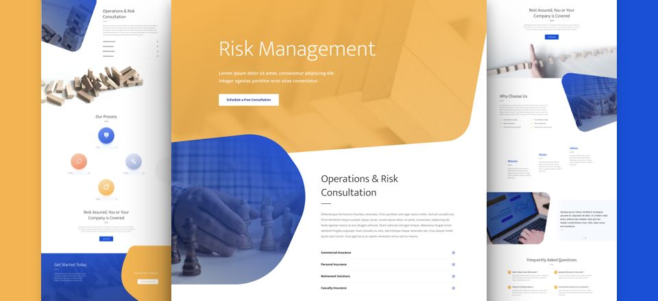 Risk Management Divi Layout Pack