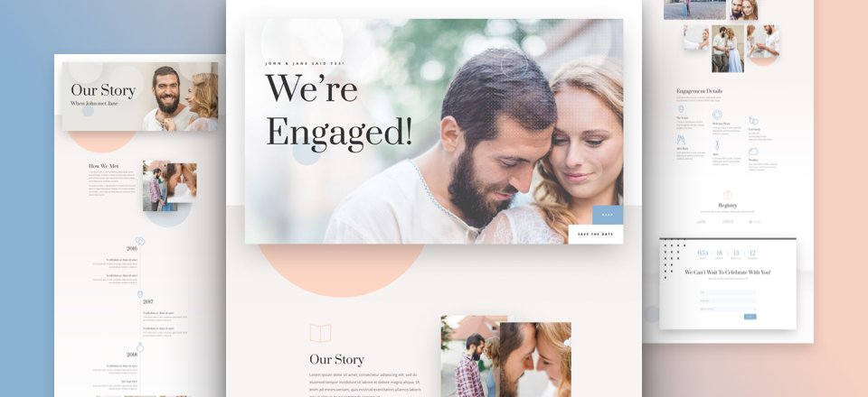 We're Engaged Divi Layout Pack