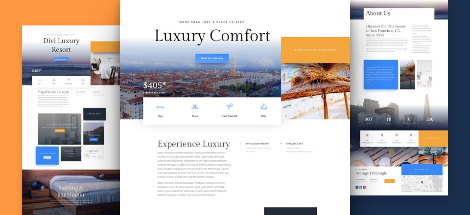 Resort Divi Layout Pack