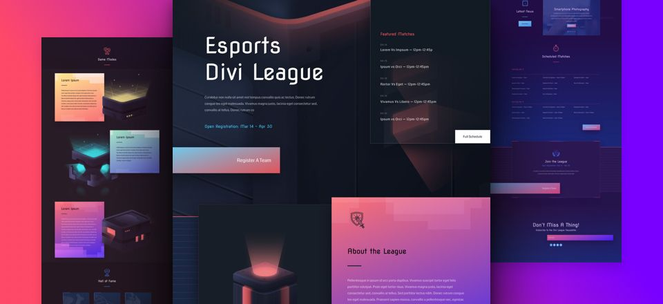 eSports Divi Layout Pack