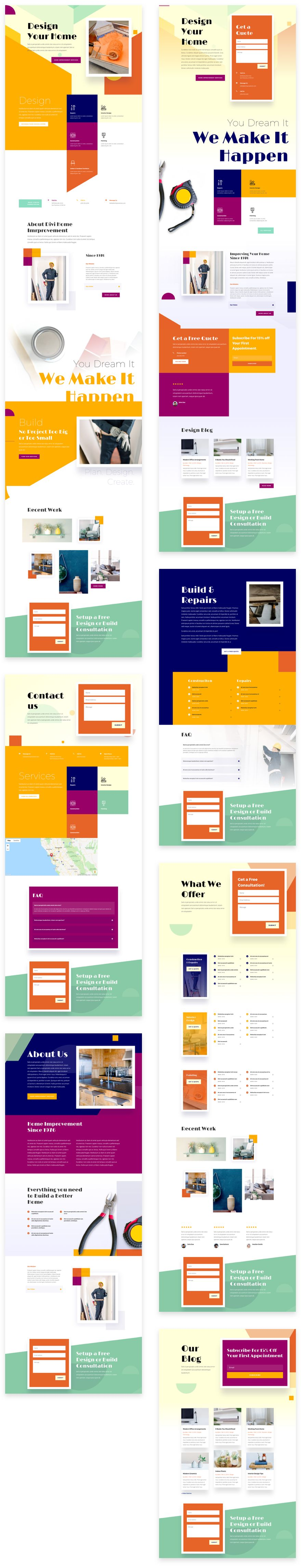 Home Improvement Divi Layout Pack