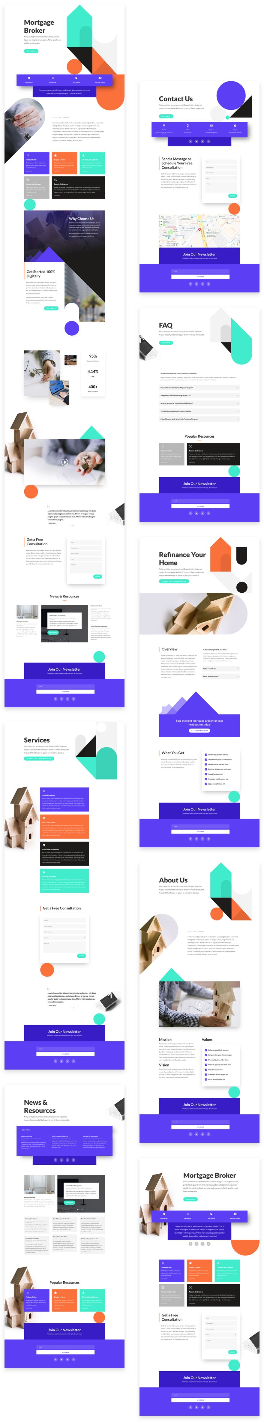 Mortgage Broker Divi Layout Pack