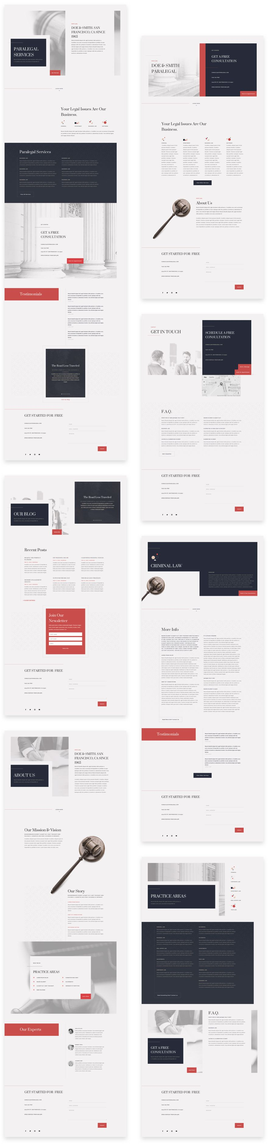 Paralegal Divi Layout Pack