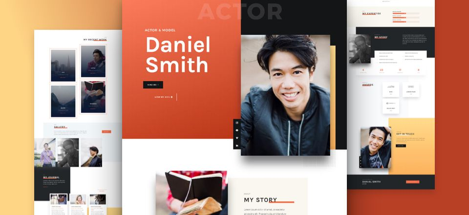 Actor CV Divi Layout Pack