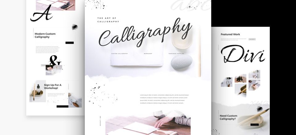Calligraphy Divi Layout Pack