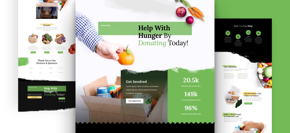 Food Bank Divi Layout Pack