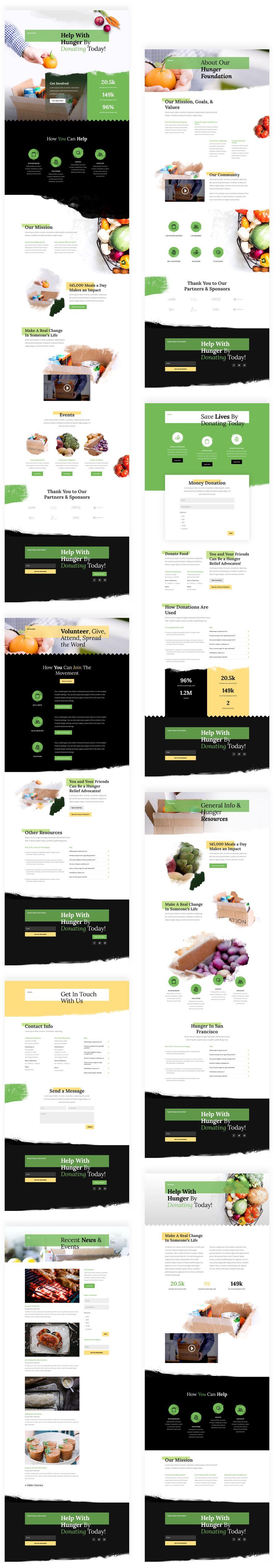 Food Bank Divi Layout Pack