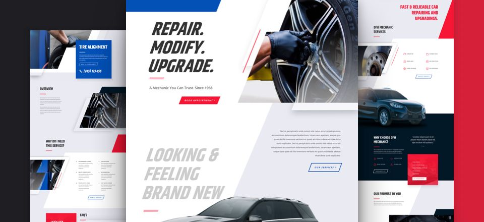 Mechanic Divi Layout Pack