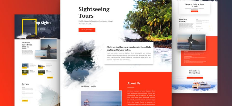 Sightseeing Divi Layout Pack