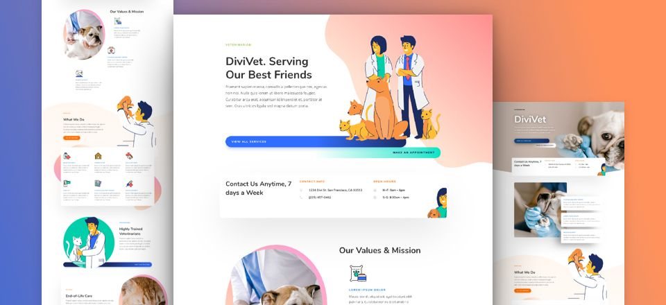 Veterinarian Divi Layout Pack
