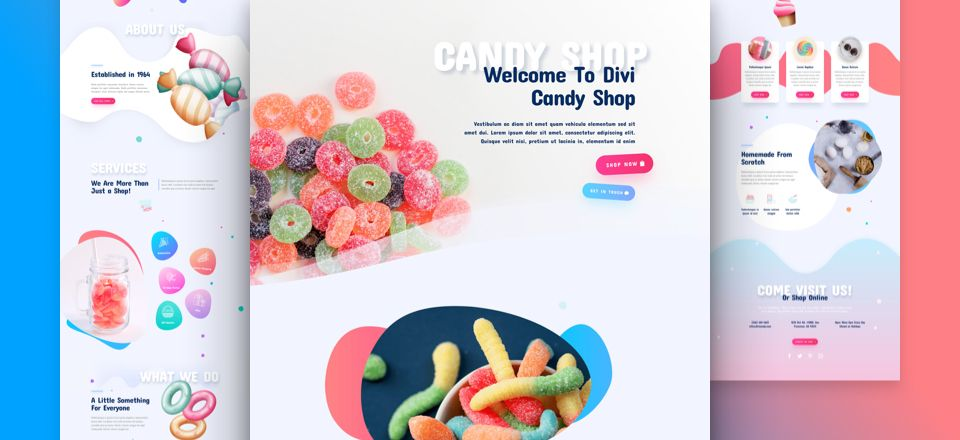 Candy Shop Divi Layout Pack
