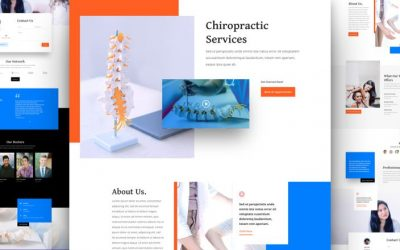 Chiropractor Layout Pack