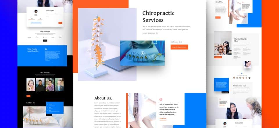 Chiropractor Divi Layout Pack